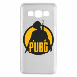 Чехол для Samsung A3 2015 PUBG logo and game hero