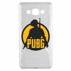 Чехол для Samsung A5 2015 PUBG logo and game hero