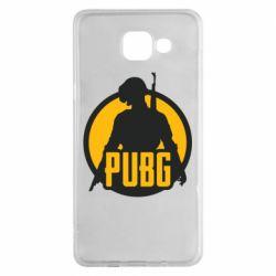 Чехол для Samsung A5 2016 PUBG logo and game hero
