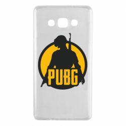 Чехол для Samsung A7 2015 PUBG logo and game hero