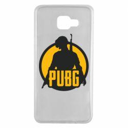 Чехол для Samsung A7 2016 PUBG logo and game hero