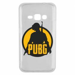 Чехол для Samsung J1 2016 PUBG logo and game hero