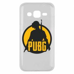 Чехол для Samsung J2 2015 PUBG logo and game hero