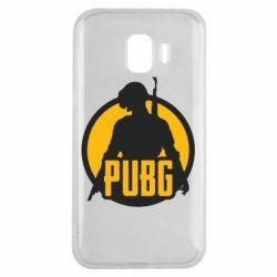 Чехол для Samsung J2 2018 PUBG logo and game hero