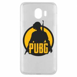 Чехол для Samsung J4 PUBG logo and game hero