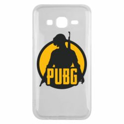 Чехол для Samsung J5 2015 PUBG logo and game hero