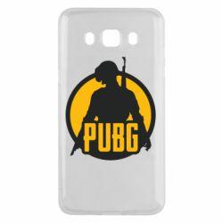 Чехол для Samsung J5 2016 PUBG logo and game hero