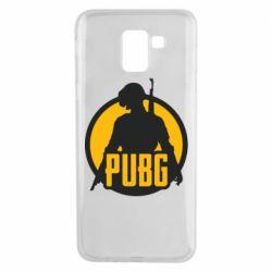 Чехол для Samsung J6 PUBG logo and game hero