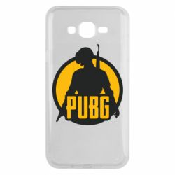 Чехол для Samsung J7 2015 PUBG logo and game hero