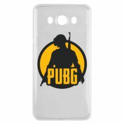 Чехол для Samsung J7 2016 PUBG logo and game hero