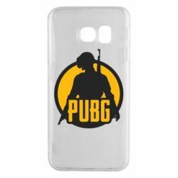 Чехол для Samsung S6 EDGE PUBG logo and game hero