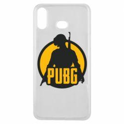 Чехол для Samsung A6s PUBG logo and game hero