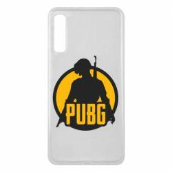 Чехол для Samsung A7 2018 PUBG logo and game hero