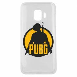 Чехол для Samsung J2 Core PUBG logo and game hero
