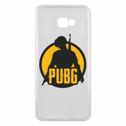 Чехол для Samsung J4 Plus 2018 PUBG logo and game hero