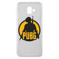 Чехол для Samsung J6 Plus 2018 PUBG logo and game hero