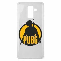 Чехол для Samsung J8 2018 PUBG logo and game hero