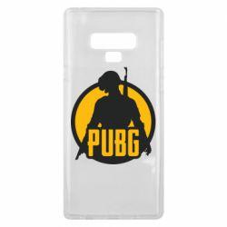 Чехол для Samsung Note 9 PUBG logo and game hero
