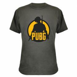 Камуфляжная футболка PUBG logo and game hero