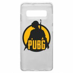 Чехол для Samsung S10+ PUBG logo and game hero