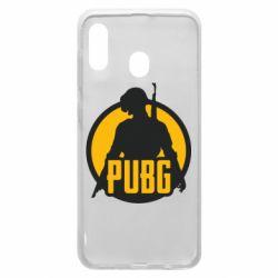 Чехол для Samsung A20 PUBG logo and game hero