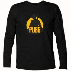 Футболка с длинным рукавом PUBG logo and game hero