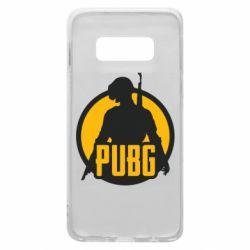 Чехол для Samsung S10e PUBG logo and game hero