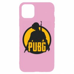 Чехол для iPhone 11 PUBG logo and game hero
