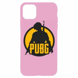 Чехол для iPhone 11 Pro PUBG logo and game hero
