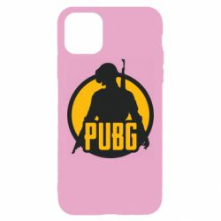 Чехол для iPhone 11 Pro Max PUBG logo and game hero