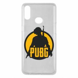 Чехол для Samsung A10s PUBG logo and game hero