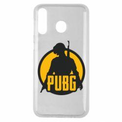 Чехол для Samsung M30 PUBG logo and game hero