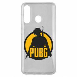 Чехол для Samsung M40 PUBG logo and game hero
