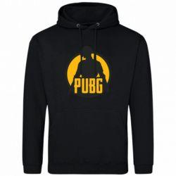 Мужская толстовка PUBG logo and game hero