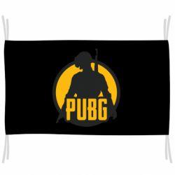 Флаг PUBG logo and game hero