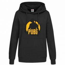 Женская толстовка PUBG logo and game hero