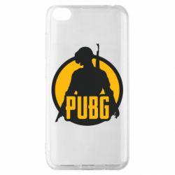 Чехол для Xiaomi Redmi Go PUBG logo and game hero
