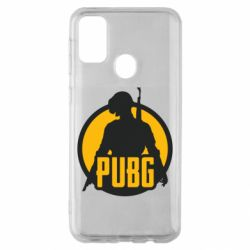 Чехол для Samsung M30s PUBG logo and game hero