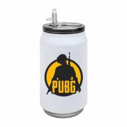Термобанка 350ml PUBG logo and game hero