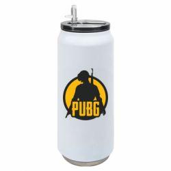 Термобанка 500ml PUBG logo and game hero