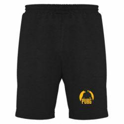 Мужские шорты PUBG logo and game hero