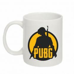 Кружка 320ml PUBG logo and game hero