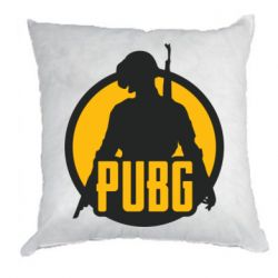 Подушка PUBG logo and game hero