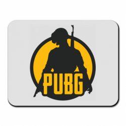 Коврик для мыши PUBG logo and game hero