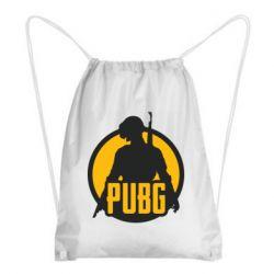 Рюкзак-мешок PUBG logo and game hero