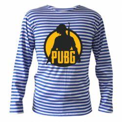Тельняшка с длинным рукавом PUBG logo and game hero