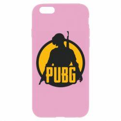 Чехол для iPhone 6 Plus/6S Plus PUBG logo and game hero