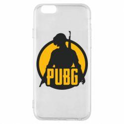 Чехол для iPhone 6/6S PUBG logo and game hero