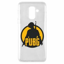 Чехол для Samsung A6+ 2018 PUBG logo and game hero