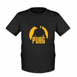 Детская футболка PUBG logo and game hero